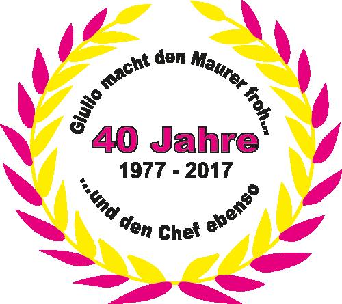 40 Jahre mit Kranz